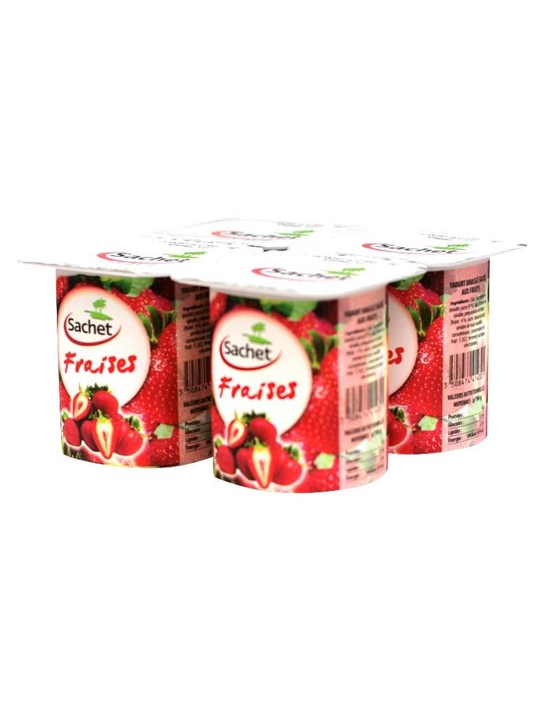 Yaourt à la fraise Sachet 4x125G