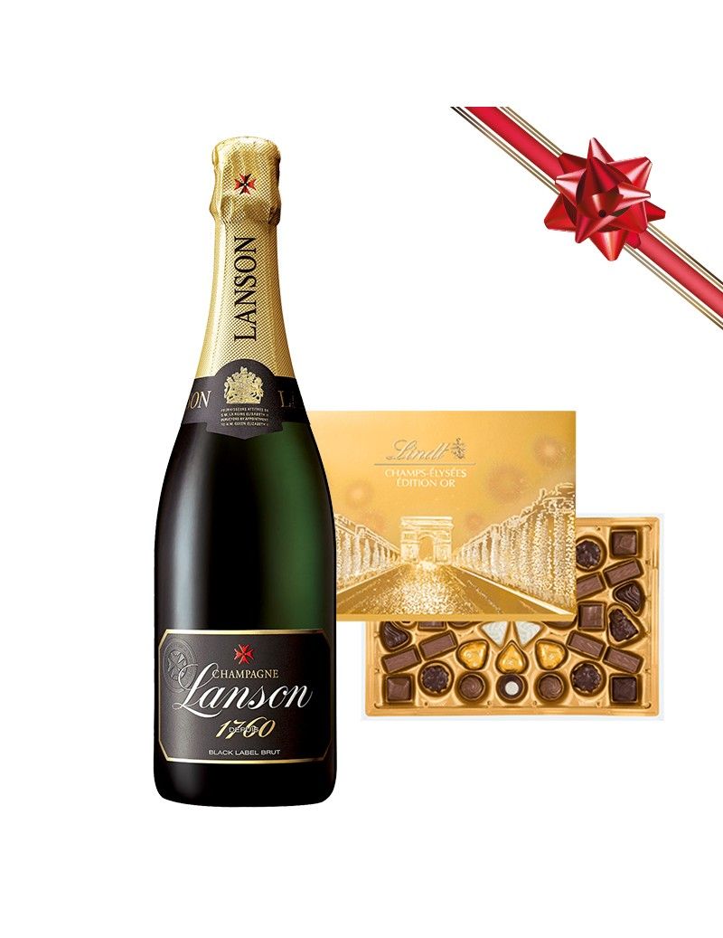 Coffret Champagne Lanson et...