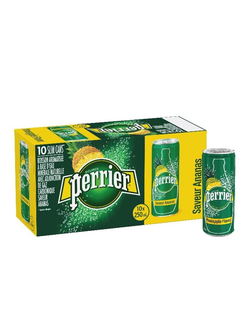 Perrier aromatisé ananas 10 x 25cl