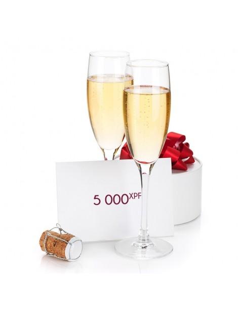 Chèque cadeau 5000XPF