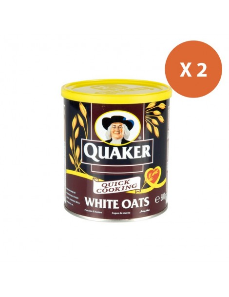 Flocon d'avoine Quaker Oats Boite métal 2x500G